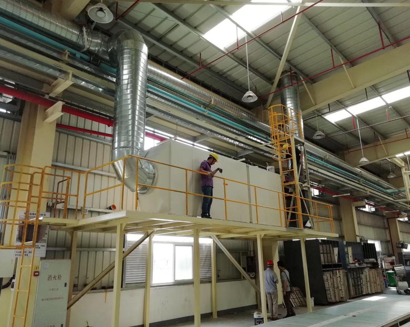 蓬江纸制品企业有机废气治理